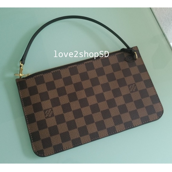 187d812ad5d0 NEW Louis Vuitton Neverfull Pochette Damier Ebene